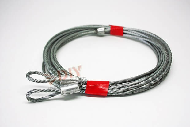 """1/8"""" 7 x 7 Torsion Cable Assembly fits 7 ft high garage doors"""
