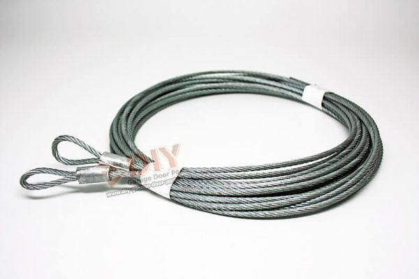 """1/8"""" 7 x 19 Torsion Cable Assembly fits 8 ft high garage doors"""