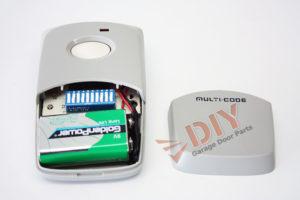 Linear multicode garage door remote